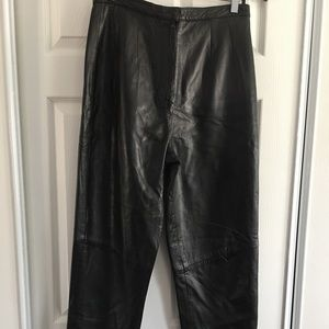 Pre-owned Black Leather Pants